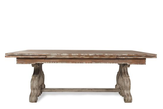 "Traditional 82"" to 126.5"" Rectangular Trestle Table in Light Wood"