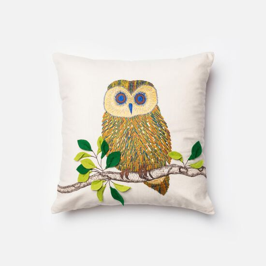 """18""""x18"""" Pillow Cover Only in Ivory/Multi"""