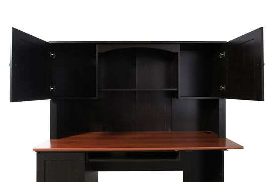 "67"" Casual Two-Door Hutch in Antique Espresso"