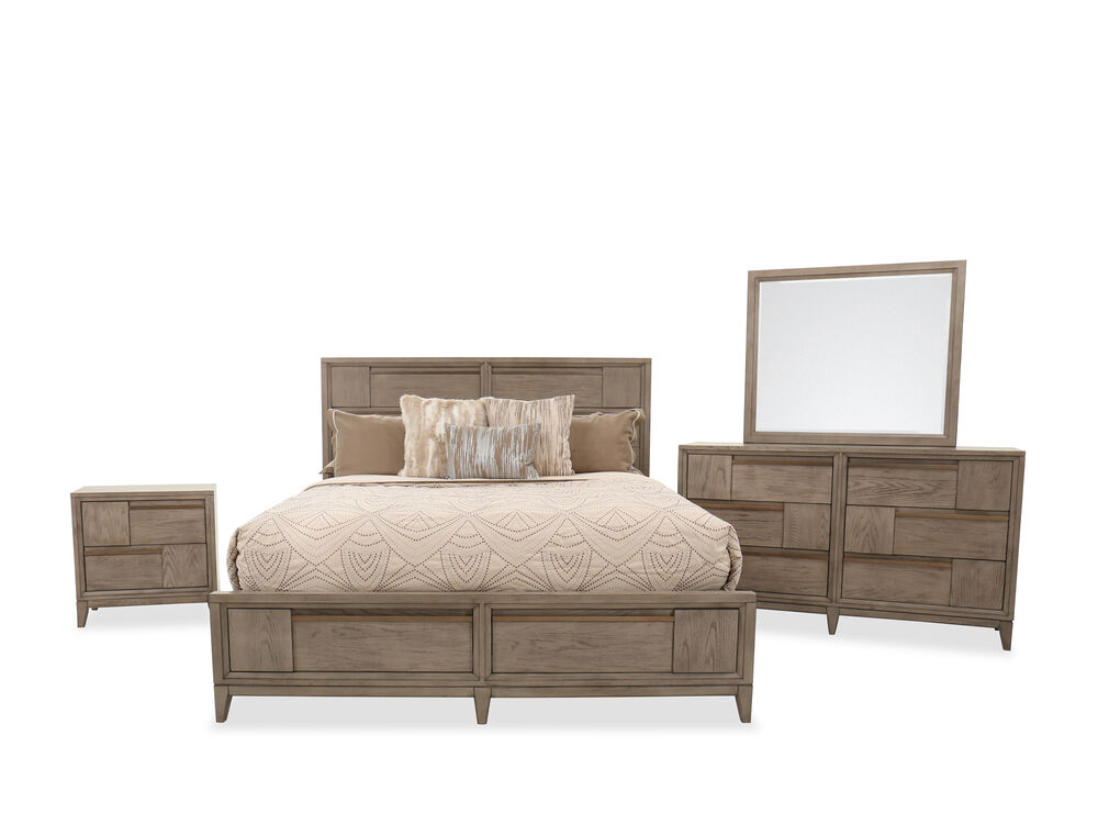 Four-Piece Transitional Bedroom Suite in Nouveau Gray