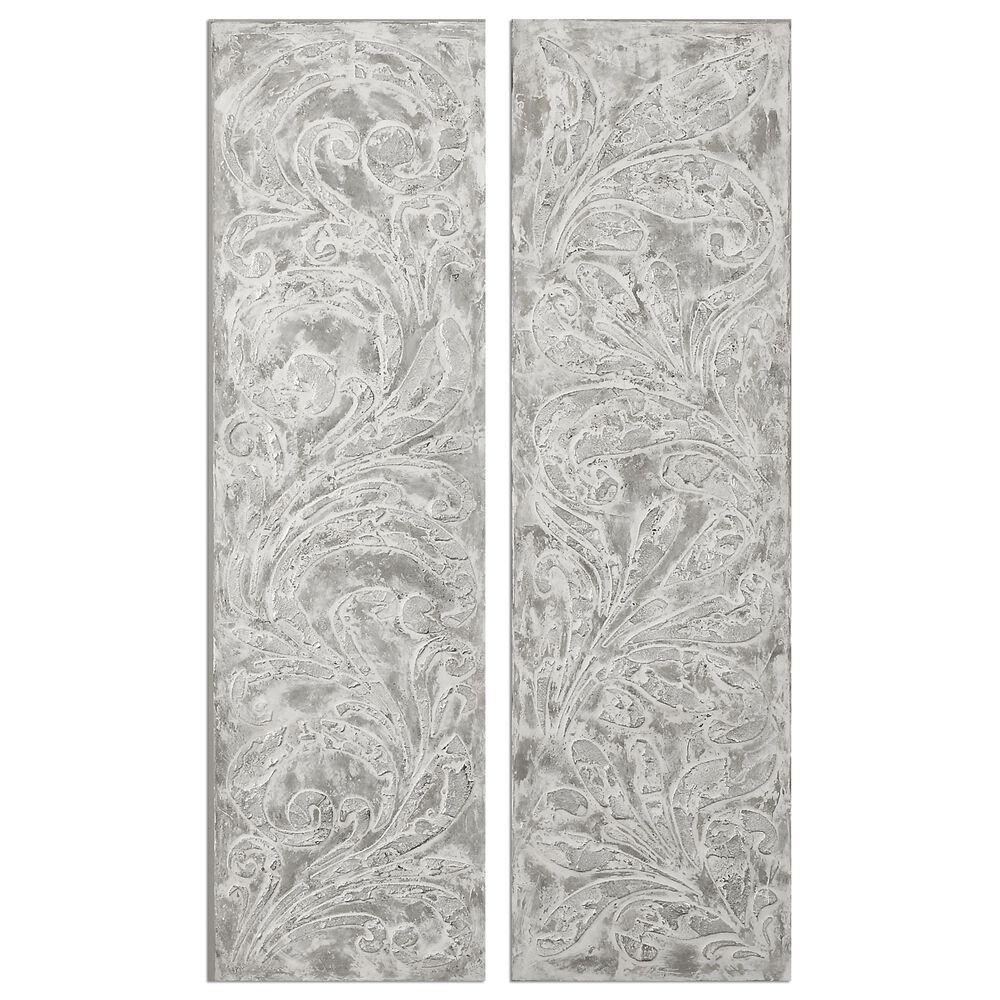 Two-Piece Fleur-De-Lis Design Canvas Wall Art Set