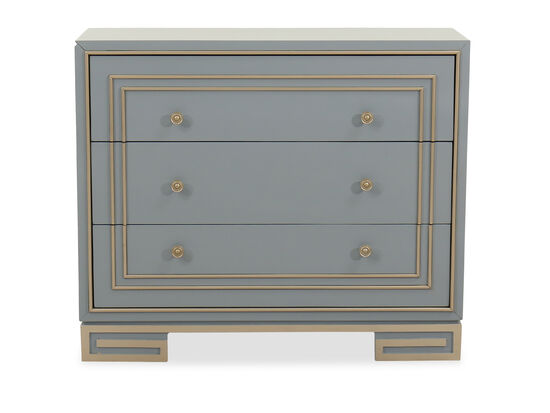 Three-Drawer Contemporary Chest in Gray