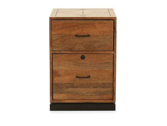 Two-Drawer Casual Mobile File in Medium Brown