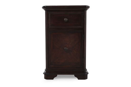 """34"""" Traditional Telephone Tablein Glossy Brown"""