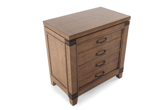 "30"" Transitional Two-Drawer Nightstand in Brown"