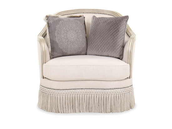 Nailhead-Trimmed Contemporary 41.5'' Chair in Beige