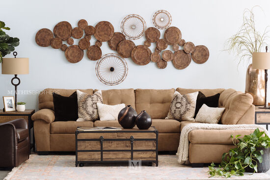 Transitional Two-Piece Sectional in Latte