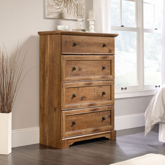 """49"""" Casual Four-Drawer Chest in Vintage Oak"""
