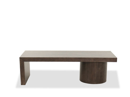 Rectangular Cocktail Table in Cerused Charcoal