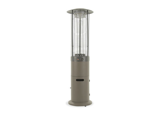 Contemporary Steel Patio Heater with Weather Cover in Gray