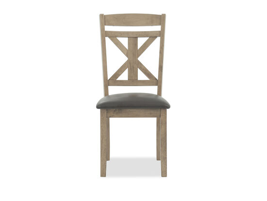 """Casual 40"""" X-Back Side Chair in Light Brown"""