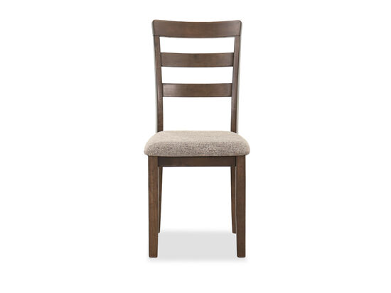 """Ladder Back 19"""" Dining  Side Chair in Brown"""