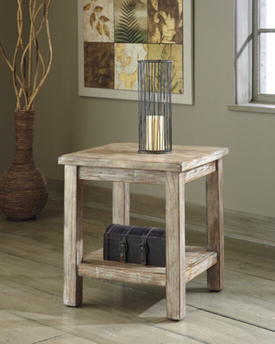 Casual Square End Table in Light Brown