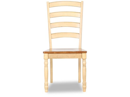 Two-Piece Ladder Back 40'' Side Chair Set in Wheat