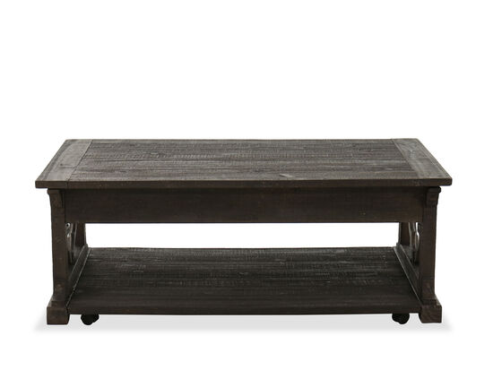 Lift-Top Cottage Cocktail Table in Rustic Gray