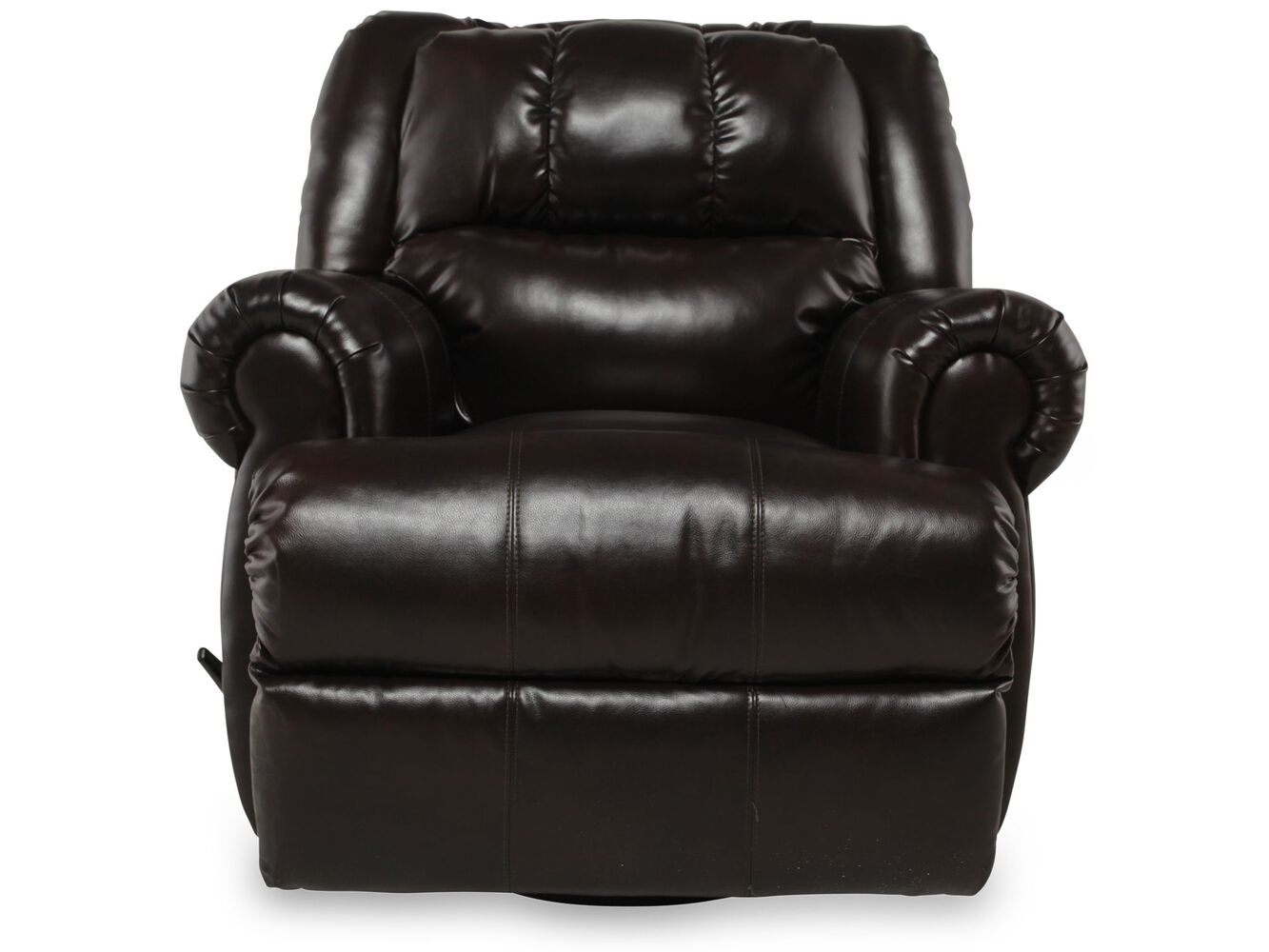 swivel casual 42 rocker recliner in black mathis brothers furniture. Black Bedroom Furniture Sets. Home Design Ideas