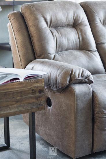 Industrial Storage Chairside End Tablein Honey