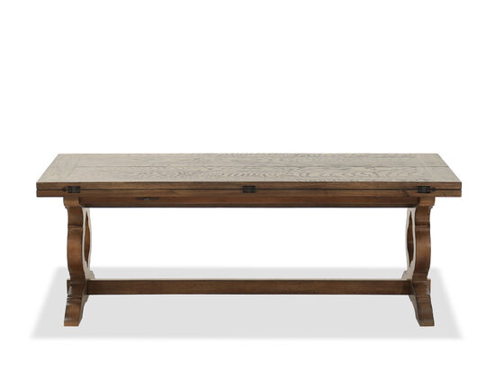 Traditional Flip Top Cocktail Table in Winter Wheat