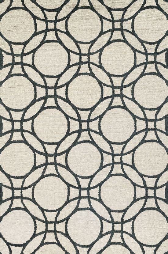 """Transitional 7'-10""""x11'-0"""" Rug in Ivory/Black"""