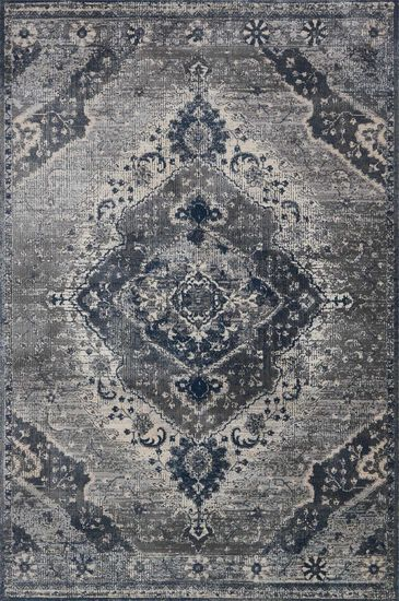 "Transitional 2'-7""x4' Rug in Silver/Grey"