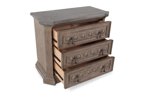 """33"""" Three-Drawer Casual Bedside Chestin Mist"""