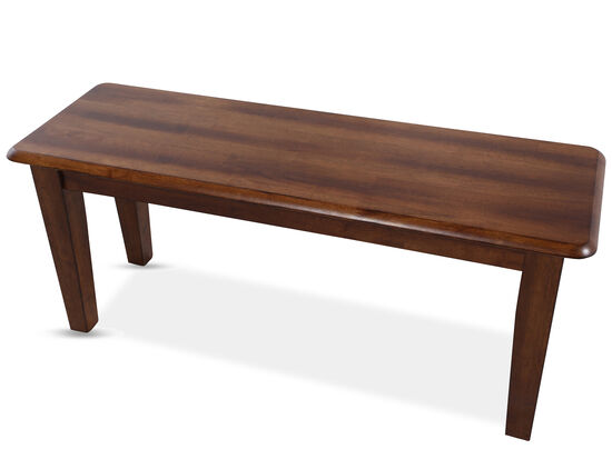 """42"""" Casual Bench in Brown"""