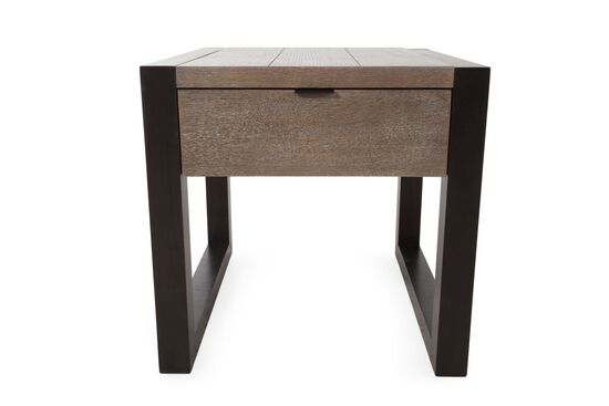 Contemporary Rectangular End Table in Stone