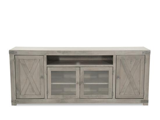 X-Door Front Traditional TV Stand in Gray