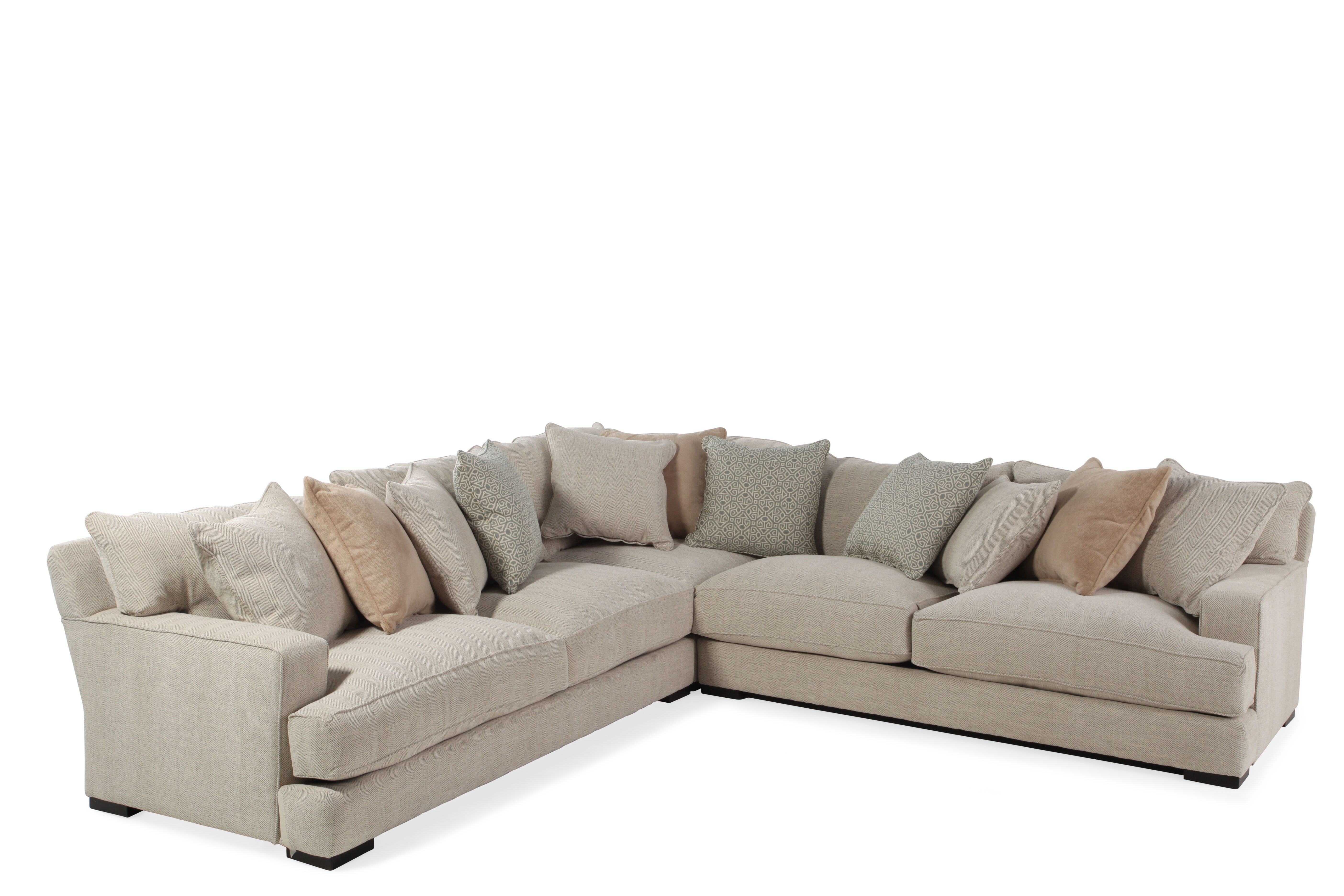 Jonathan Louis Matthew Three-Piece Sectional  sc 1 st  Mathis Brothers : jonathan louis noah sectional - Sectionals, Sofas & Couches