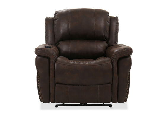 Contemporary Power Recliner in Brown