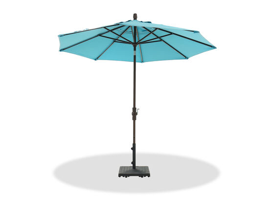 Casual Collar Tilt Umbrella in Brown/Aqua