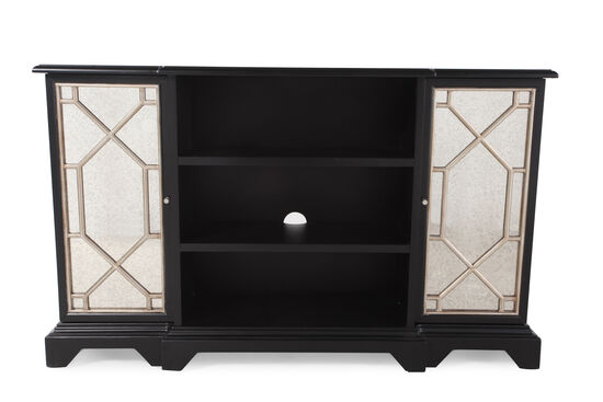 "38"" Traditional Wood Grill Accent Console Chest in Black"
