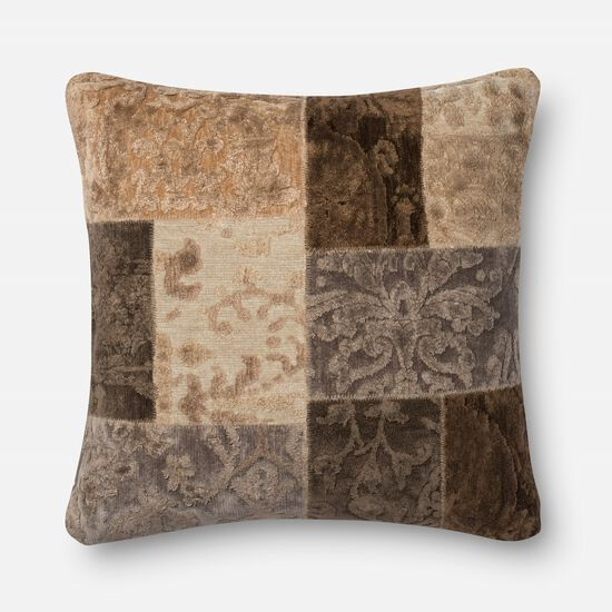 "Transitional 22""x22"" Pillow Cover Only in Neutral"
