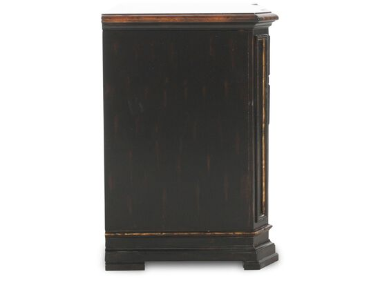Two-Drawer Traditional Lateral File Cabinet in Brown