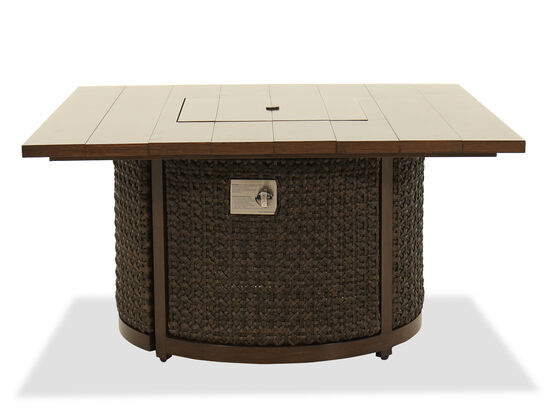 Woven Fire Pit Coffee Table in Ebony