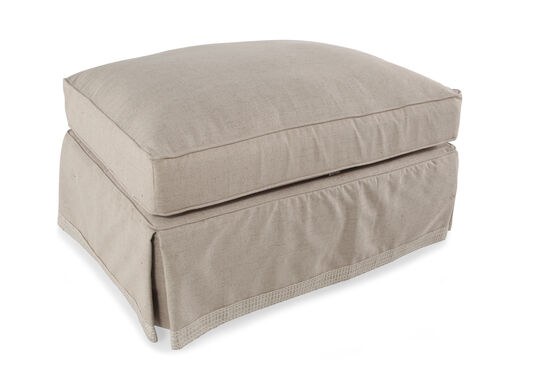"""Traditional 38"""" Ottoman in Beige"""