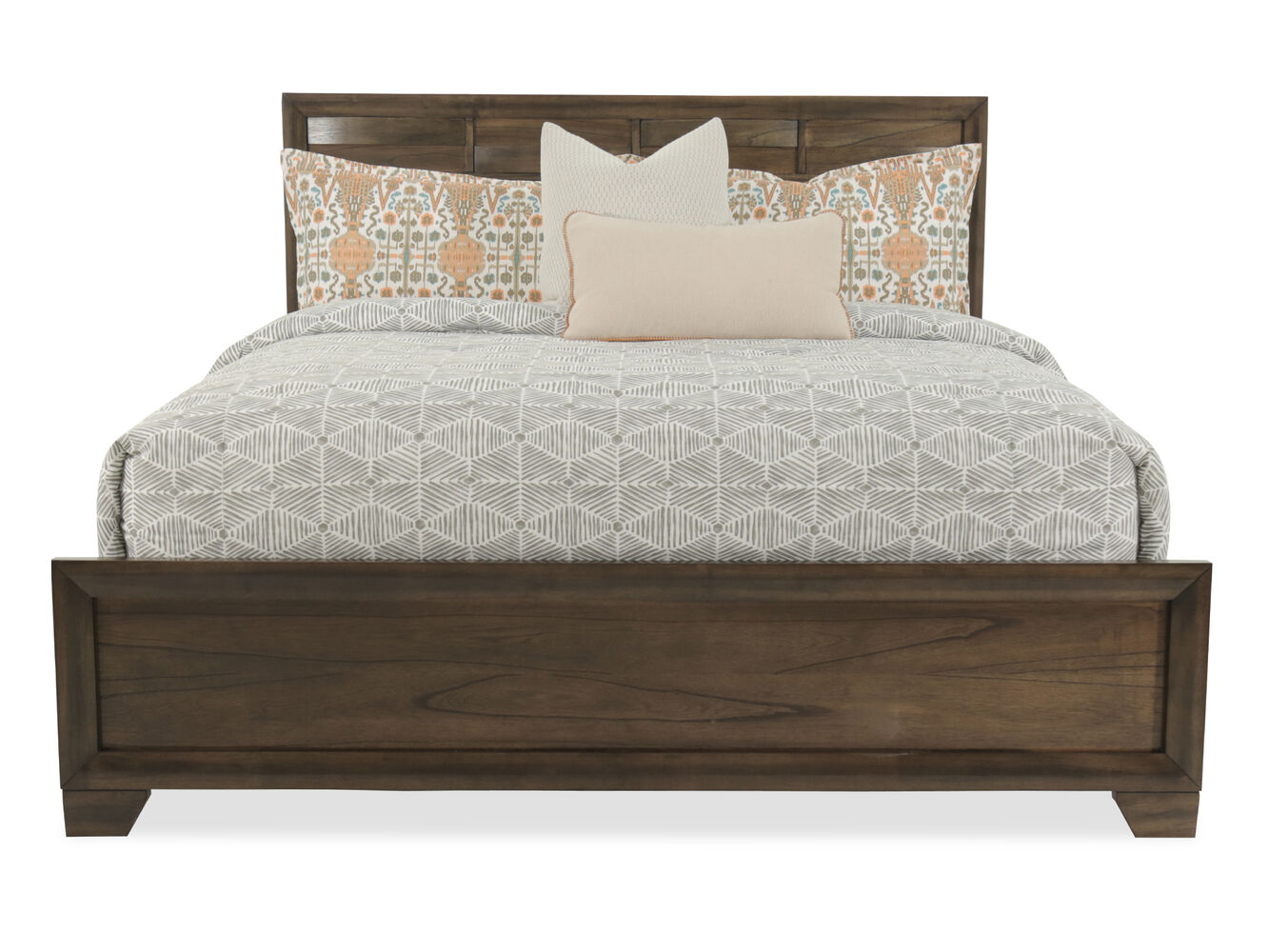 Wooden king size bed designs catalogue - Ashley Mydarosa Brown King Panel Bed
