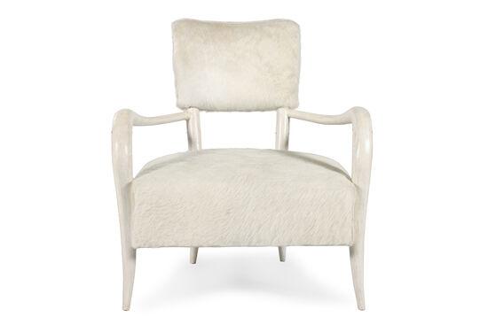 "Medallion-Back Modern 31.5"" Chair in Cream"