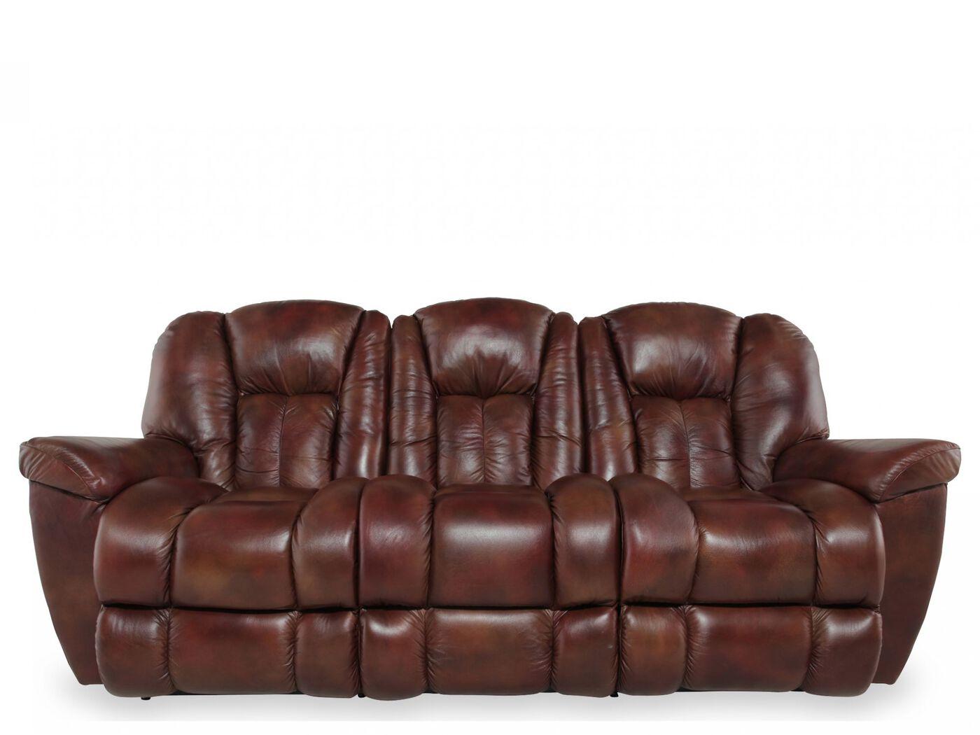 Freeds Furniture La Z Boy Maverick Sofa La Z Boy Maverick Mahogany ...