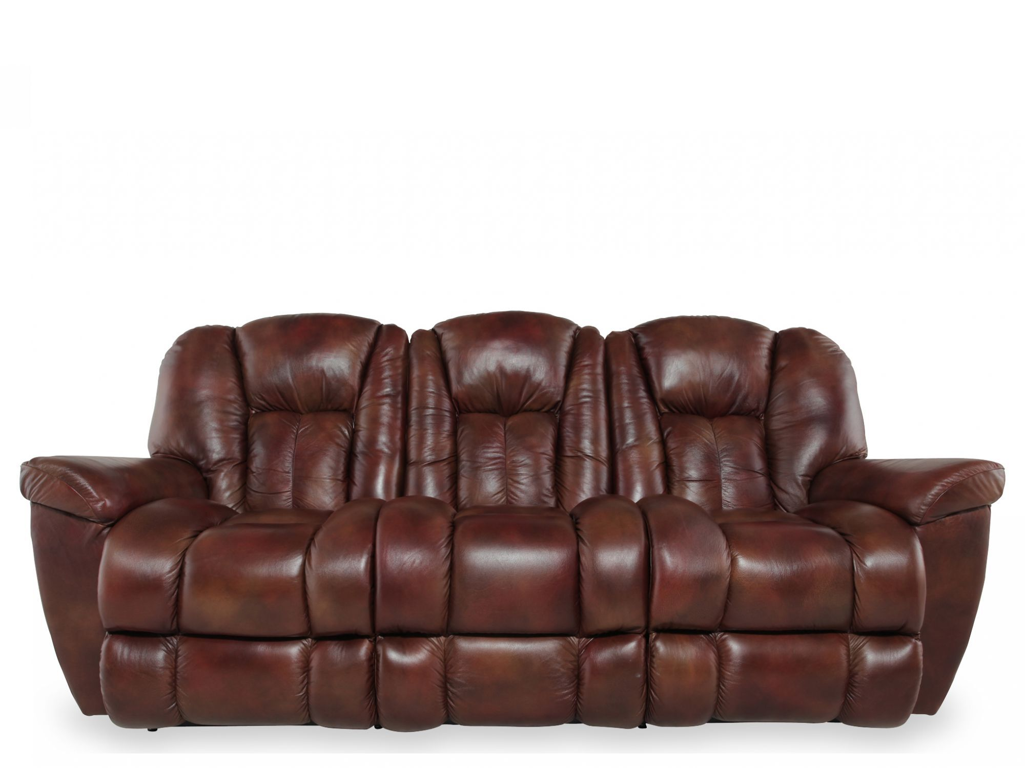 La-Z-Boy Maverick Mahogany Leather Reclining Sofa  sc 1 st  Mathis Brothers & La-Z-Boy Maverick Mahogany Leather Reclining Sofa | Mathis ... islam-shia.org