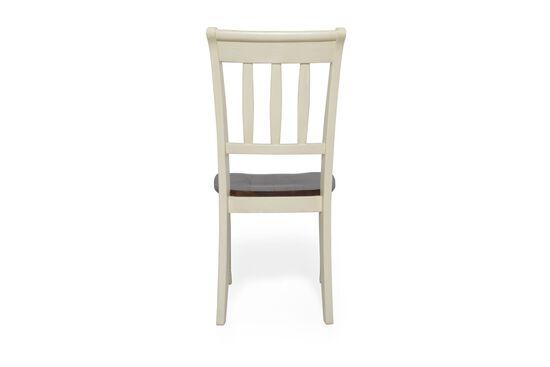 Two-Piece Slat Back Side Chair Set in Buttermilk