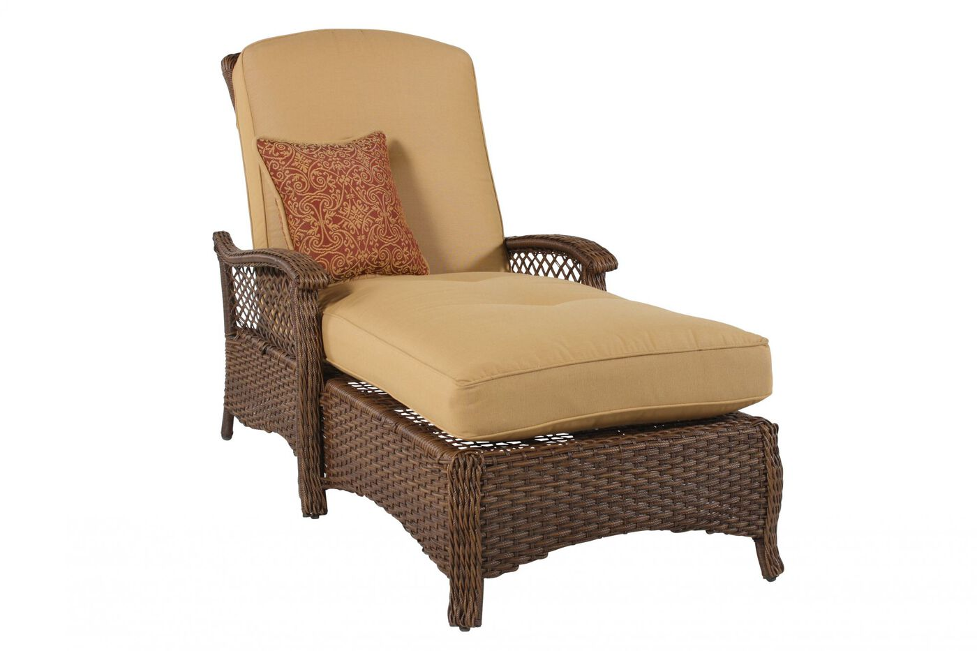 Woven Aluminum Chaise Lounge In Gold Mathis Brothers