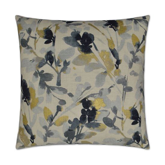 Leaf Storm Pillow in Navy Blue