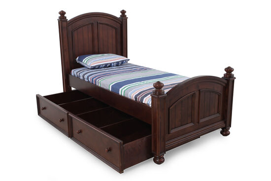 Winners Only Cape Cod Chocolate Twin Bed with Trundle
