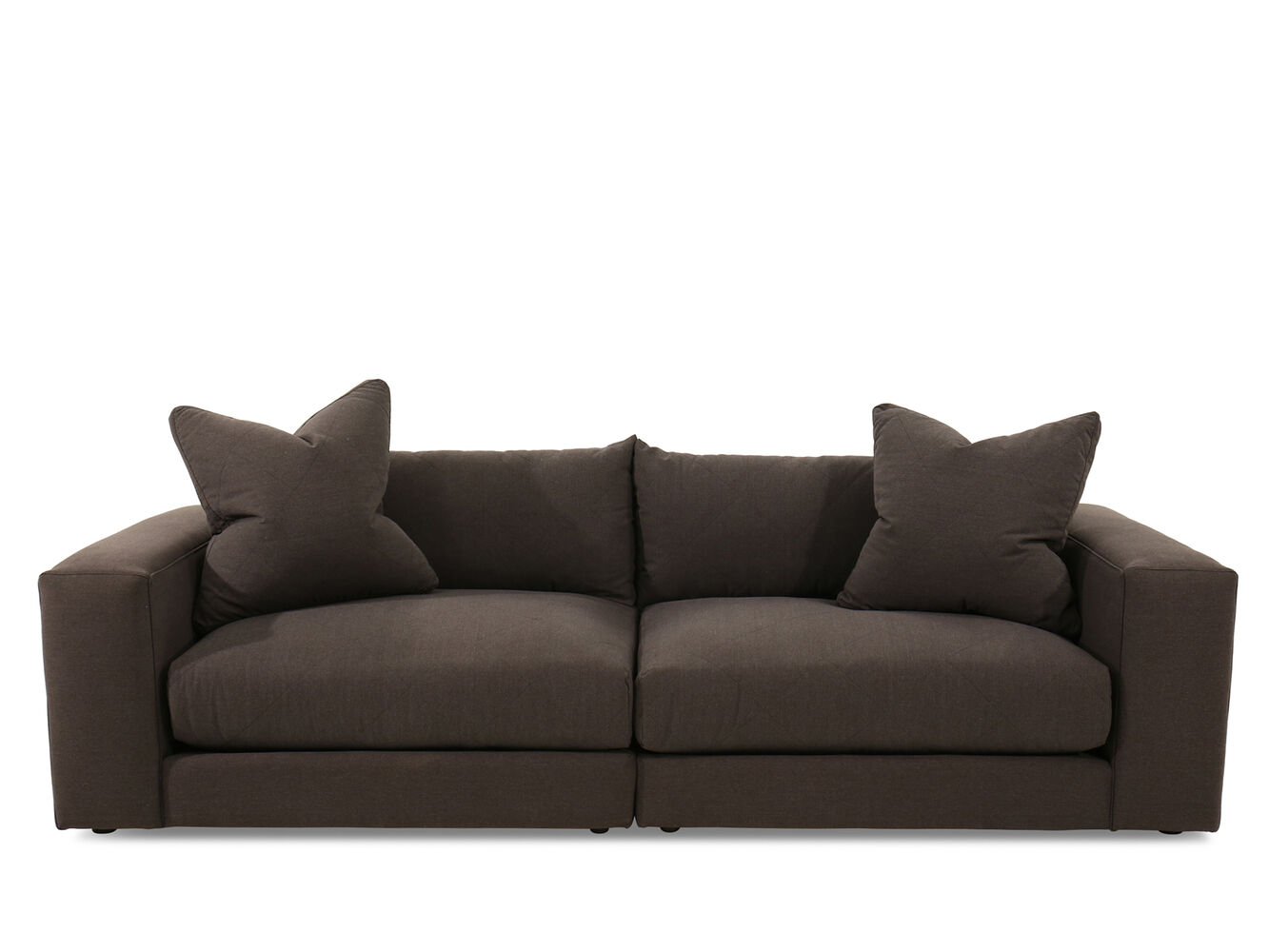 Jonathan Louis Jude Brown Two-Piece Livingroom Sectional Set ...