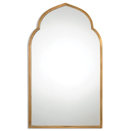 """40"""" Arched Accent Mirror in Antiqued Gold"""