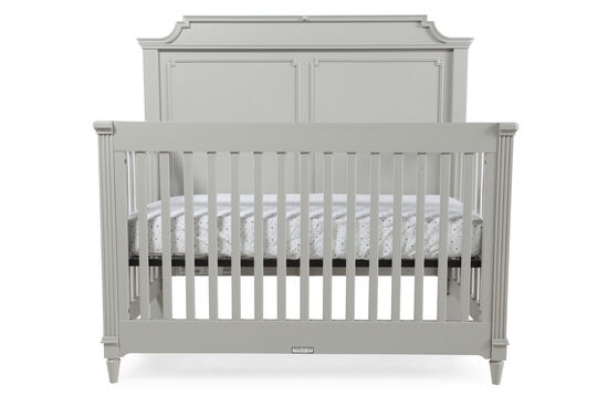 Pagoda-Carved Convertible Built to Grow Crib in Spoon