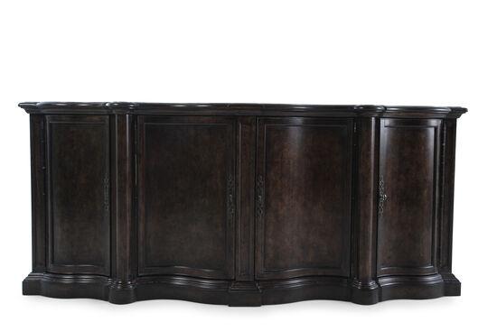 """88"""" Serpentine Sideboard in Dark Brown"""
