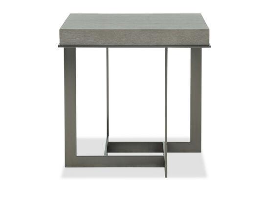 Rectangular Modern End Table in Dark Taupe