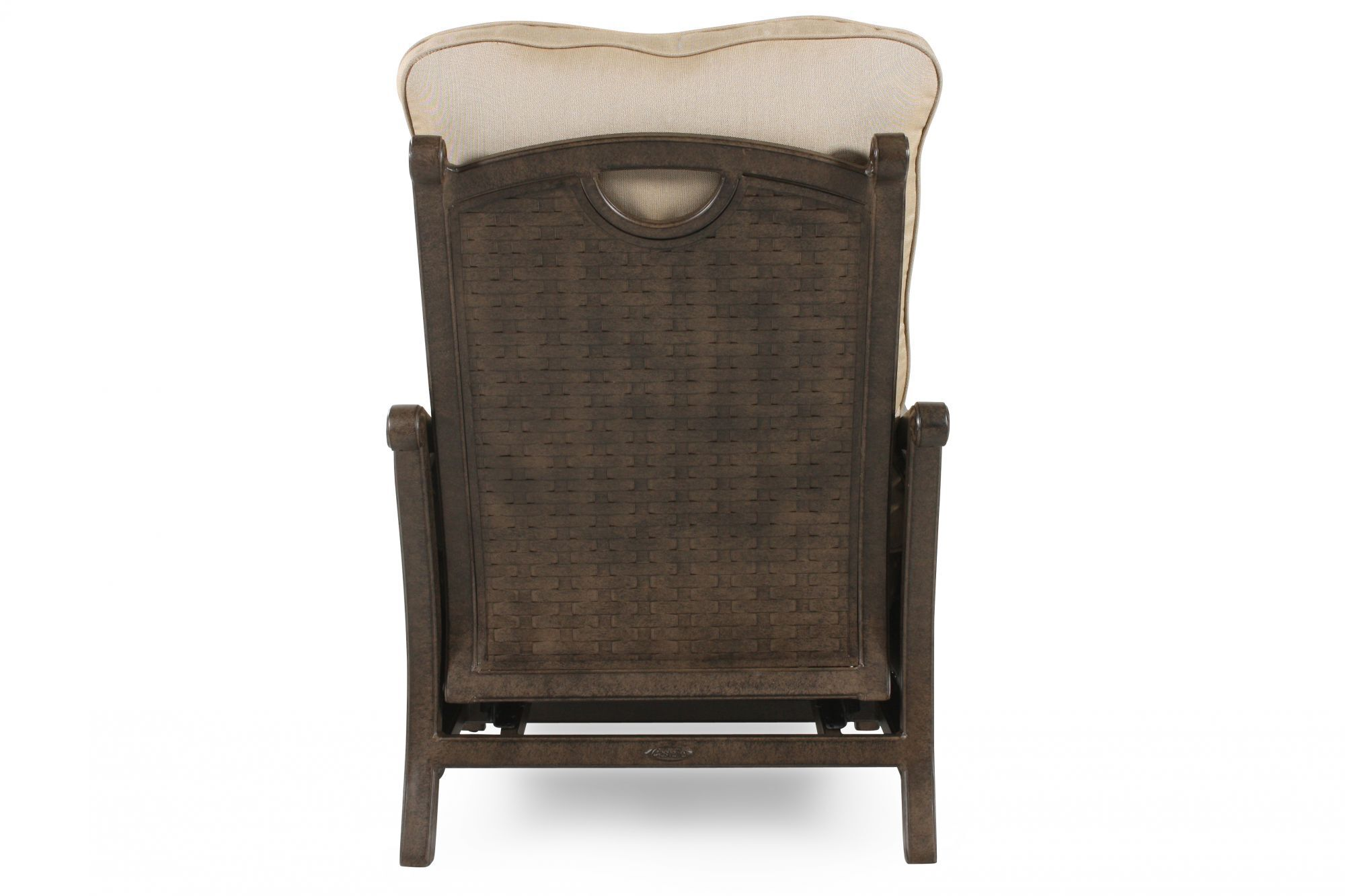 ... Curved Arm Casual Patio Recliner In Cream ...